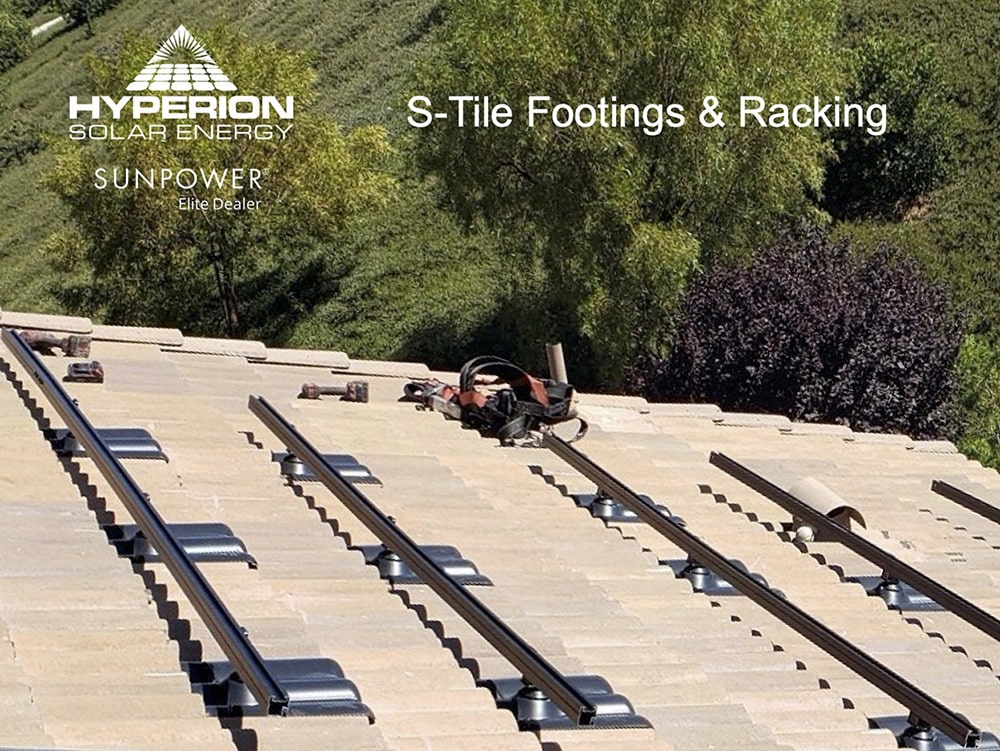S Tile Footings and Racking Solar Installation